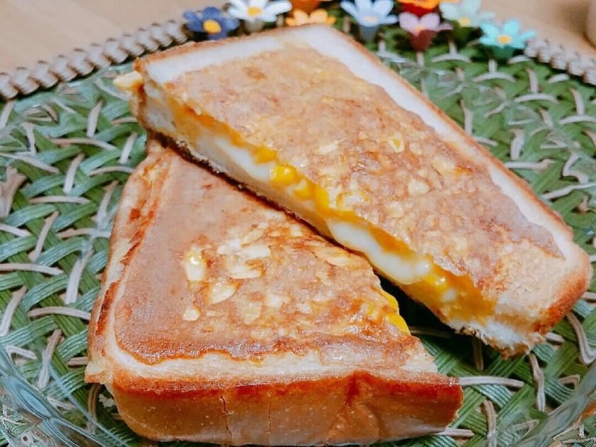 コーン額縁パン☆食パンアレンジ♪