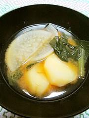◉■じゃが芋と大根・小松菜の味噌汁■◉の写真