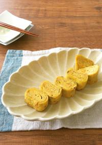 簡単アレンジ☆ごはんですよ!入り出汁巻卵
