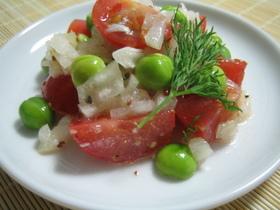 彩り☆グリンピースのサラダ