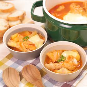 とろ~り絶品☆鶏手羽元のトマトチーズ鍋