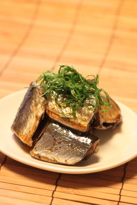 大葉ドレッシングで秋刀魚の照り煮