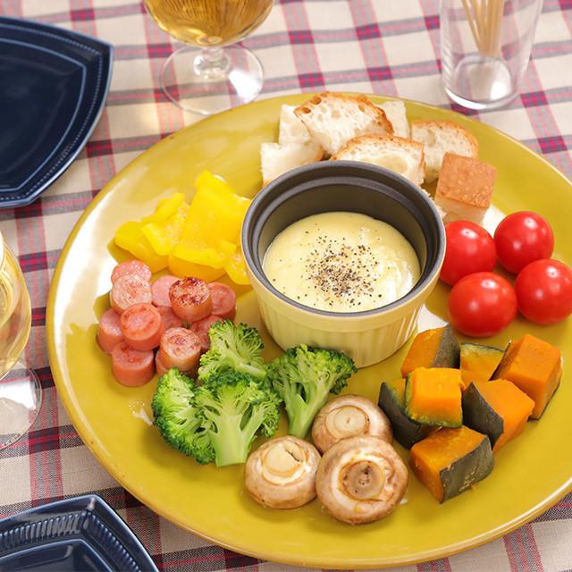簡単☆彩り野菜たちのチーズフォンデュ