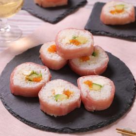 アボカドチーズのアレンジ☆生ハム巻き寿司