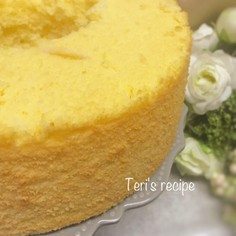 オレンジ香るオイルの米粉シフォンケーキ