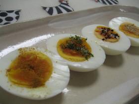 ゆで卵★カレー粉&塩で お弁当のおかず