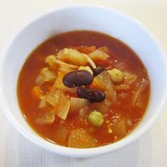 お豆のしょうがスープ