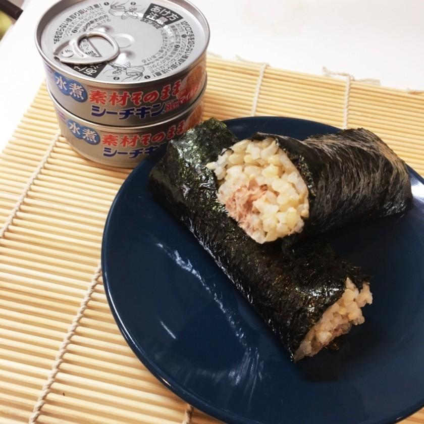 筋肉飯ッ!ツナマヨおかか玄米巻き