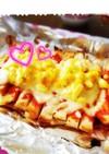 ♡朝ご飯に♪簡単パンの耳タルタルピザ♡