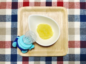 ★離乳食★レンジで1分!りんご&冷凍方法