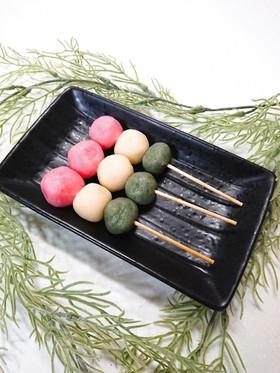 お豆腐と白玉粉を使って簡単三色団子♪