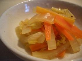 白菜と人参のさっぱり炒め煮