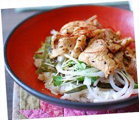 サラダ風~豚丼*