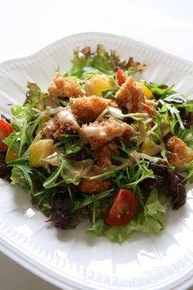 ささみフライの金胡麻サラダ