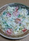 水菜とチーズのポテサラ