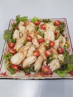 助宗鱈の唐揚げ生野菜浸し