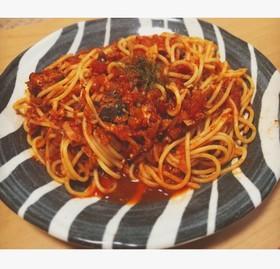 鯖缶で簡単!トマトパスタ