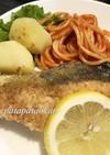 鮭のハーブレモンソテー
