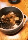 もずくと豆腐のスープ