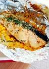 絶品!鮭とにんにく醤油のホイルチーズ焼き