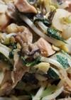 ハタケシメジ、他、野菜など油炒め・味噌味