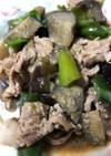 ナスピーマン豚肉の味噌炒め