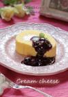 ブルーベリーのクリームチーズロールケーキ