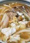 タマゴタケの玉子うどん・薩摩芋の茎入り
