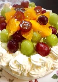 ブドウのショートケーキ