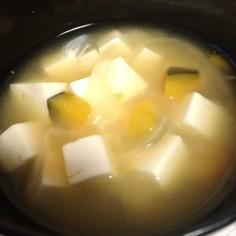 かぼちゃと玉ねぎのほっこり味噌汁