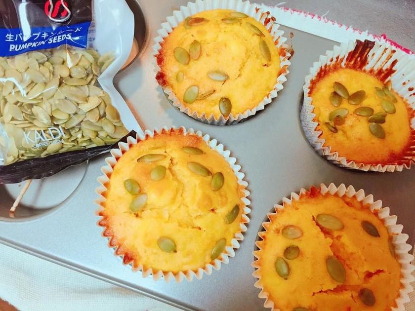 絶品!かぼちゃとクリームチーズのマフィン