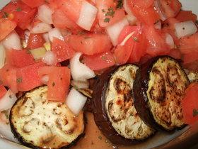茄子とトマトのマリネ