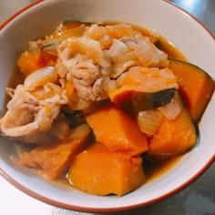 炊飯器で簡単!豚肉とかぼちゃの煮物
