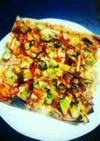 魚焼きグリルで!春巻きの皮できのこピザ
