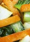 簡単!さつま揚げと青梗菜のバタポン炒め