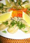 蒸し牡蠣のカルパッチョ