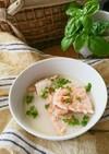 鮭のアラのミルクスープ