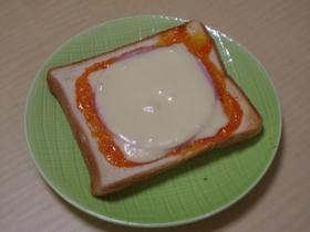 ハム&チーズ★オーロラソースのトースト