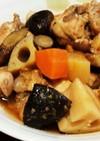 炊飯器で簡単♪鶏手羽元と根菜の甘酢煮