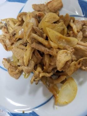豚肉としめじの味噌マヨ炒め