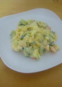 簡単カニカマきゅうりエッグのサラダ♥