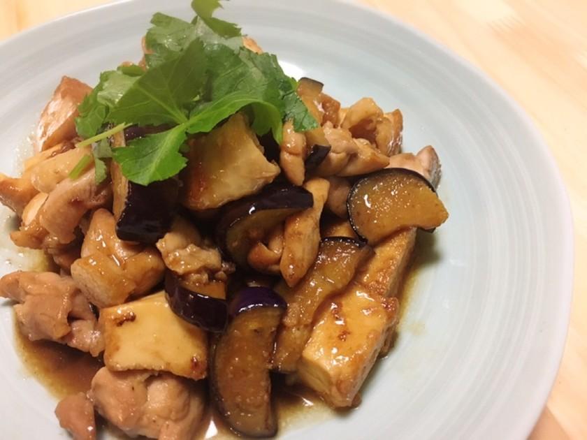 簡単☆鶏肉と厚揚げのオイスターソース炒め