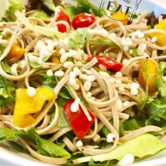 オリーブオイルの洋風サラダ蕎麦✿