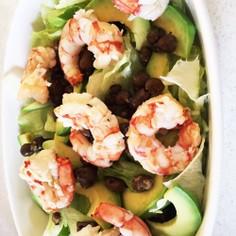 ムカゴと海老のサラダ