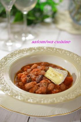 5分で!お豆とオイルサーディンのトマト煮