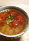 冷凍プチトマトの味噌汁