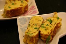 ピーマン入りの卵焼き