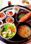 焼き鮭と和惣菜ヘルシー朝食 糖質制限