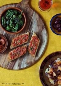 スペイン✶ トマトとガーリックのトースト