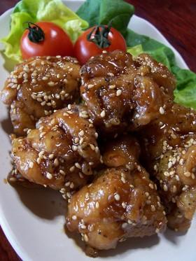 鶏モモ肉の唐揚げ☆甘辛醤油味♪